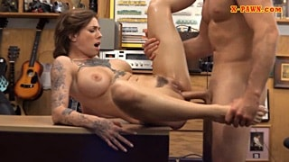 Young busty inked lady nailed by pawn man HD