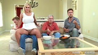 Sexy Milf Mom Ryan Conner gets drilled hard by huge cock